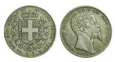 pci0456) Genova 1852 lire 5 scudo Vittorio Emanuele II - TONED