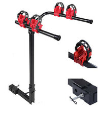 "2 Bicycle Bike Rack Carrier 1-1.4"" & 2"" Bicycle Hitch Mount Carrier Car Truck"