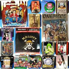 ONE PIECE ICE CREAMER figure strap wristband glass bowl puzzle pouch 16 item lot