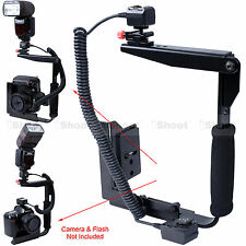 Camera Holder Flash Bracket + i-TTL Cord for Nikon Speedlight SB910 SB900 SB800