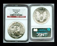 1988 FIRST STRIKE NGC MS 69 SILVER EAGLE COIN *SPOTLESS* NO MARKS* WHY PAY MORE?