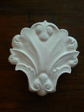 Plaster shell pediment embellishment decor arch moulding wall plaque decal Big