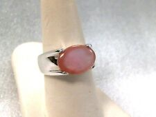 JOSEPH ESPOSITO Pink Mother Of Pearl and Sterling Silver Ring 925 ESPO SIG east.