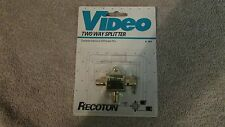 Recoton Video Two Way Splitter-Connects Antenna or VCR to 2 TV's   (CA 11)