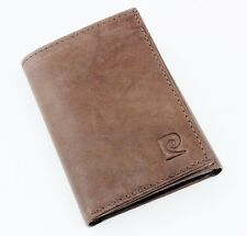 NEW PIERRE CARDIN GENUINE BROWN LEATHER CREDIT CARD ID TRIFOLD MEN'S WALLET