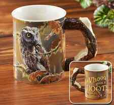 Who Gives a Hoot – Owl Sculpted Coffee Mug Susan Bourdet Wikd Wings