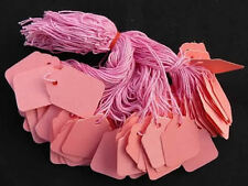 Coloured Strung String Tags Swing Price Tickets Jewellery Tie On Labels