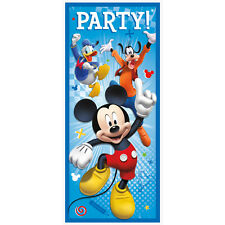 """Mickey Mouse 60"""" Door Poster Decoration (Each) Party Supplies"""