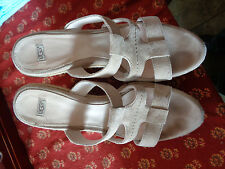 "Ugg Tan Suede 4.5"" Rope Wedges 10M Hardly Worn Some Darkening On Insole"