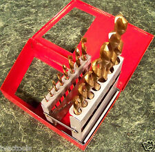 15pc LEFT HAND HSS TITANIUM DRILL BIT SET counter clockwise w/ CASE upto 1/2 Big