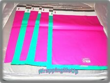 20 HOT PINK and TEAL  9x12 Flat Poly Mailer Envelopes, Self Seal USPS Shipping