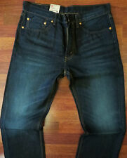 Levi's 505 Straight Leg Jeans Mens Size 38 X 30 Classic Dark Distressed Wash NEW