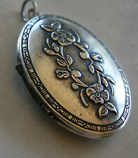 NWT Catherine Popesco Vintage Large Flower Silver French Locket Made in Paris