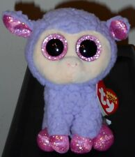 "NMT* Ty Beanie Boos ~ LAVENDER the 6"" Lamb Stuffed Plush Toy ~ NEW with NM TAG"