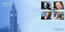 St Helena 2013 FDC Margaret Thatcher in Memoriam 4v Set Cover Big Ben Stamps