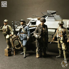 1/35 resin soldier chinese local army in WWII resistance against Japan 4 figures