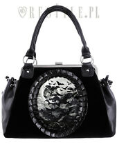 Restyle Vamp Flying Vampire Bats Scary Moon Gothic Occult Punk Purse Handbag