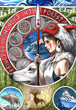 STUDIO GHIBLI - PRINCESS MONONOKE MOVIE POSTER PRINT - BUY 2 GET 1 FREE