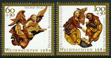 Germany B685-B686, MNH. Christmas. Wood carvings in St. Lawrence's Church, 1989