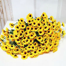 Artificial 14 Heads Fake Silk Sunflower Flower Bouquet Home Wedding Floral Decor
