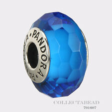 Authentic Pandora Sterling Silver Murano Fascinating Aqua Bead 791607