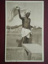 POSTCARD SOCIAL HISTORY THE DHOBIE AT WORK - AN INDIAN WORKKER