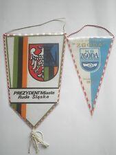POLISH SPORT flag pennant KLUB SPORTOWY ZGODA,Ruda Śląska Prezyden Miasta POLAND