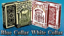 White & Blue Collar 2 Deck Set Bicycle Playing Cards Poker Size USPCC Limited