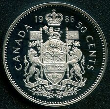 1986 Canada Proof 50 Cent Coin