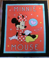 MINNIE MOUSE FABRIC RED POLKA DOTS QUILT TOP  CP61783 MINNIE MOUSE NEW BTP