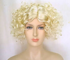 Theatrical 1920s 1930s Costume Style Quality Blonde Flapper Wig