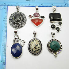 Free Shipping Lot Of 6 Sterling Silver Plated Pendant ! ONLINE SHOPPING INDIA