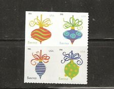 2011 #4582a Holiday Baubles Block of 4 from ATM pane with 4579-82