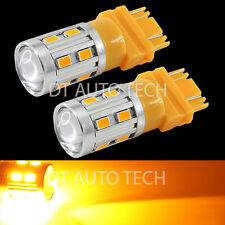 2X High Power 5630 Chip+Cree LED 3157/3156 Amber Yellow Turn Signal Lights Bulbs