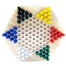 Solid Wood Chinese Checkers in wood base set size 23CM Classic Wooden Game