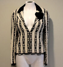 Chanel 04A Black White Tweed Blazer Jacket FR36 US4