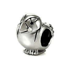 Perfect Puffin Genuine Solid Sterling Silver Charm OHM Bead AAA007