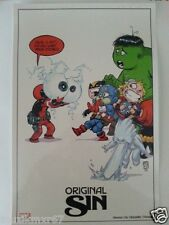 SDCC Comic Con 2014 Handout MARVEL Original Sin art print by Skottie Young