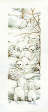 "WEST HIGHLAND WHITE WESTIE DOGS ART LIMITED EDITION PRINT ""Long Trail - Winter"""