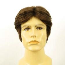 Perruque homme 100% cheveux naturel châtain clair ref THIBAUT 8