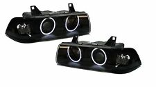 Black front headlights w/CCFL angel eyes for BMW 3 series E36 Coupe cabrio 90-98
