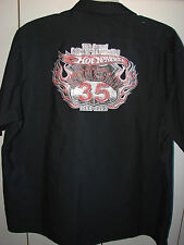 Hot Wheels Drag Strip Crew 35th Anniv Embroidered Shirt XXL/Nice