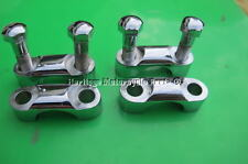 4 chrome Pince Guidon + 4 chrome BOULONS BSA A B C M +Triumph 65-5333 65-5334