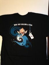 "Full Tilt Poker T-Shirt,"" WHO YOU CALLING A FISH "", 100% Cotton, Black XL , L &M"