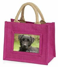 Fell Terrier 'Love You Dad'  Little Girls Small Pink Shopping Bag Chr, DAD-29BMP