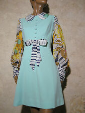 CHIC VINTAGE ROBE 1970 VTG DRESS 1970s KLEID 70er ABITO ANNI 70 SEVENTIES (40)