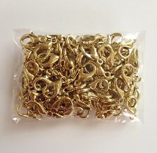 14K Gold Plated 100 pcs Lobster Clasps Claw Jewelry Fastener Hook #68G Copper