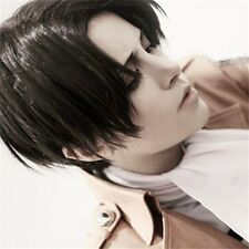 Attack on Titan Captain Levi Ackerman cosplay wig uk