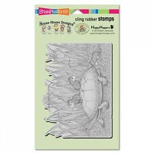 HOUSE MOUSE RUBBER STAMPS CLING SLAPSTICK TURTLE RIDE NEW STAMP
