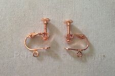 Rose Gold Plated Clip On Screw On Earring Findings X4 (2Pairs)  ����UK SELLER